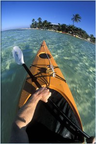 Kayaking Glover's Reef