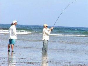 bone fishing on the flats of Ambergris Caye