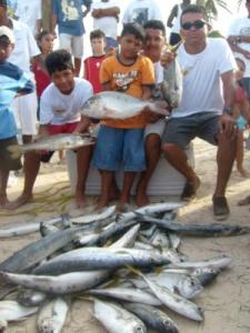 family fishing fun on St. Georges Caye Day