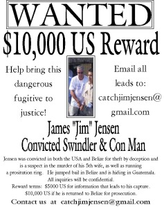 reward for info on Jim Jenson